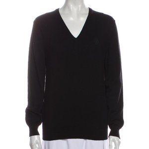 GUCCI 100% Italian Wool V Neck Sweater Black Sz S